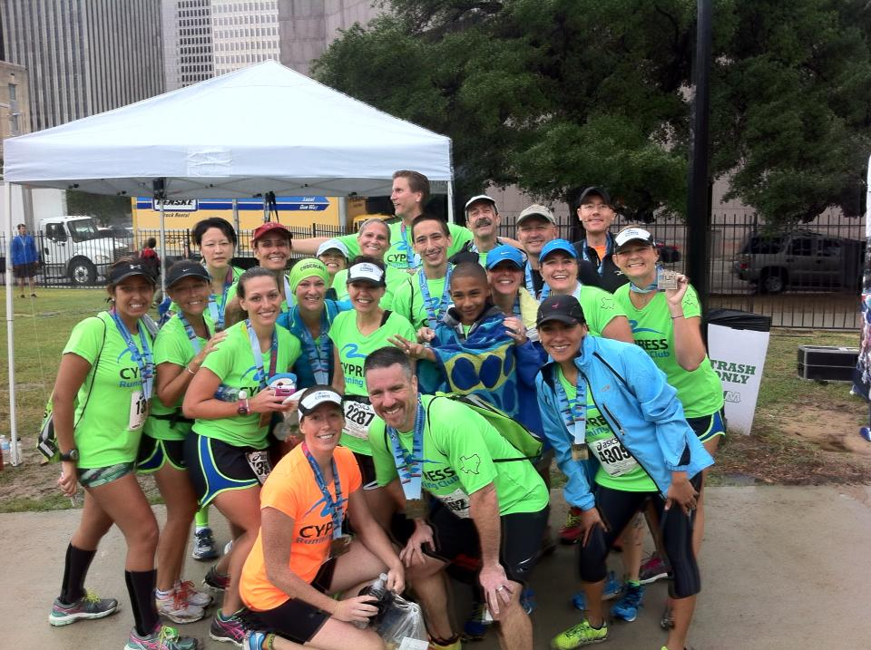 CRC raced in the rain at Houston Half Marathon